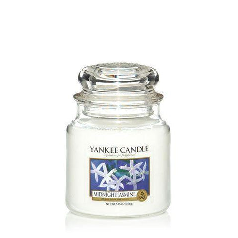 Yankee Candle - Midnight Jasmine Medium Jar Candle Jar Candles | Snape & Sons