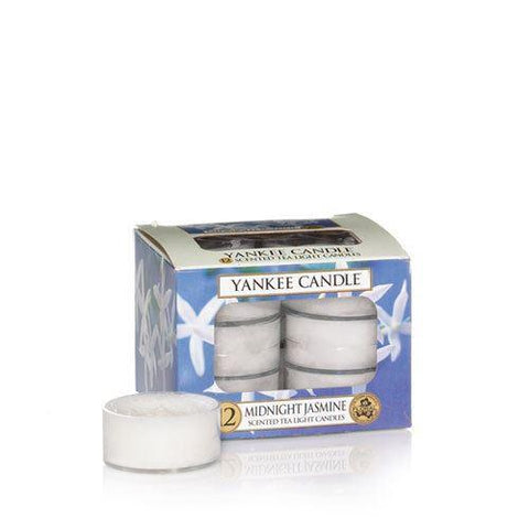 Yankee Candle - Midnight Jasmine Tealights x12 Tea Light Candles | Snape & Sons