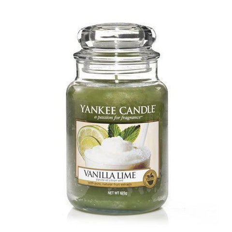 Yankee Candle - Vanilla Lime Large Jar Candle Jar Candles | Snape & Sons