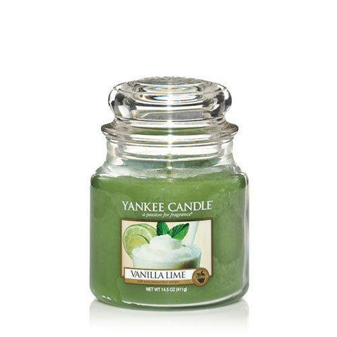 Yankee Candle - Vanilla Lime Medium Jar Candle Jar Candles | Snape & Sons