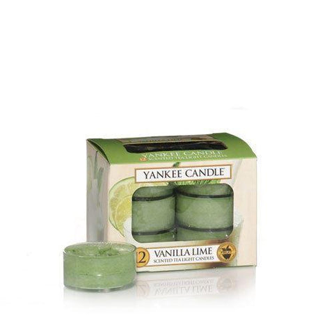 Yankee Candle - Vanilla Lime Tealights x12 Tea Light Candles | Snape & Sons