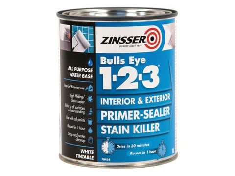 Zinsser - Bulls Eye 1-2-3 Primer & Sealer 500ml Primers & Sealers | Snape & Sons