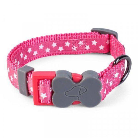 Zöon Pets - Dog Collar Pink Stars Medium Dog Collars | Snape & Sons