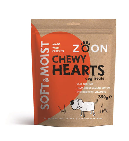 Zöon Pets - Soft & Moist Chewy Hearts Dog Treats | Snape & Sons