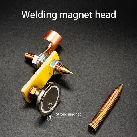 Welding magnet head
