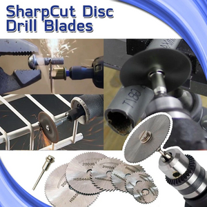 Disc Drill Blades and Mandrel (6pcs Set)