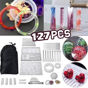 DIY Crystal Glue Mold Set (127 Pcs)