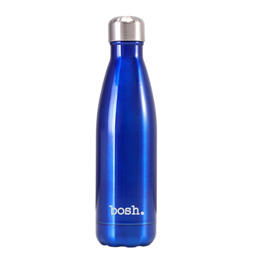 Metallic Blue Bosh Bottle - Bosh Bottles UK - Reusable Drinks Bottle - Gym Bottle - Hot and Cold Flask