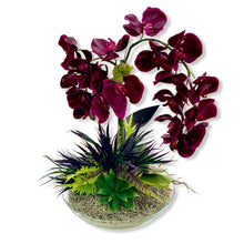 Load image into Gallery viewer, Decograss Real Touch wine synthetic Phalaenopsis Orchid