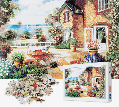1000 Piece Jigsaw Puzzle - House by The Lake - PuzzleMode.com