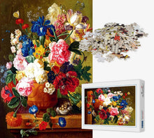 Load image into Gallery viewer, 1000 Piece Jigsaw Puzzle - Vase of Flowers - PuzzleMode.com
