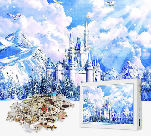 1000 Piece Jigsaw Puzzle - Snow Queen Castle - PuzzleMode.com