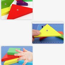 Load image into Gallery viewer, Wooden Magnetic Puzzle Educational Shape-builder - PuzzleMode.com
