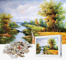 Load image into Gallery viewer, 1000 Piece Jigsaw Puzzle - Spring Brook - PuzzleMode.com