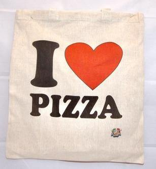 Shopper cotone I love Pizza