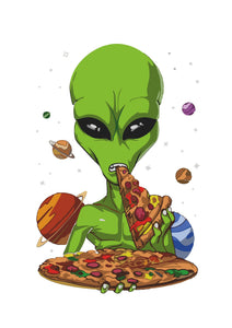 T-Shirt Pizza Alien