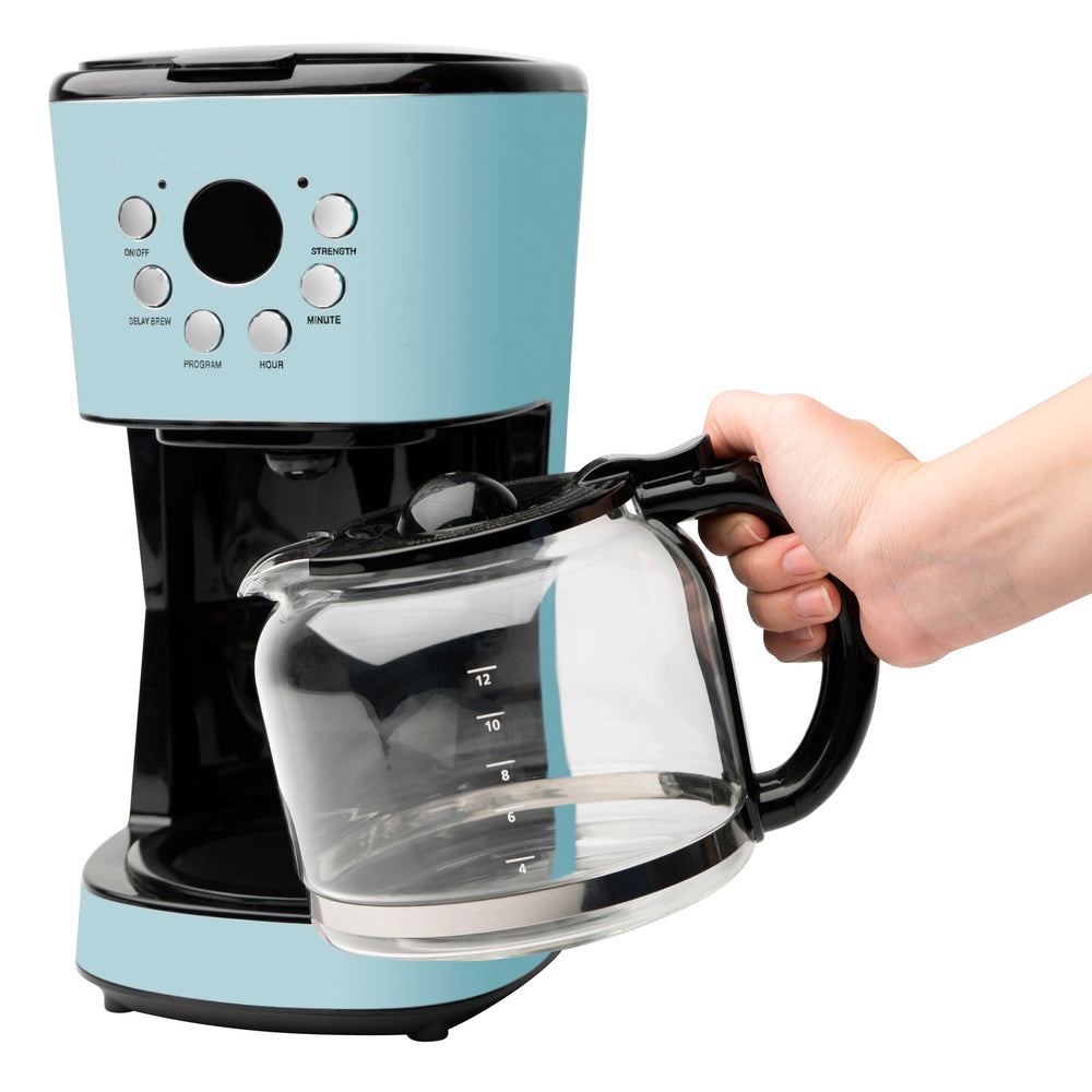 Heritage 12 Cup Programmable Coffee Maker With Strength Control Turq Hadenusa