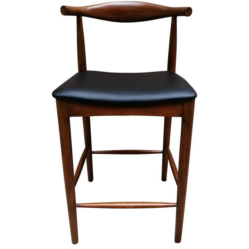 CH20 Elbow Counter Stool - Walnut & Black Seat - Reproduction - Modn City