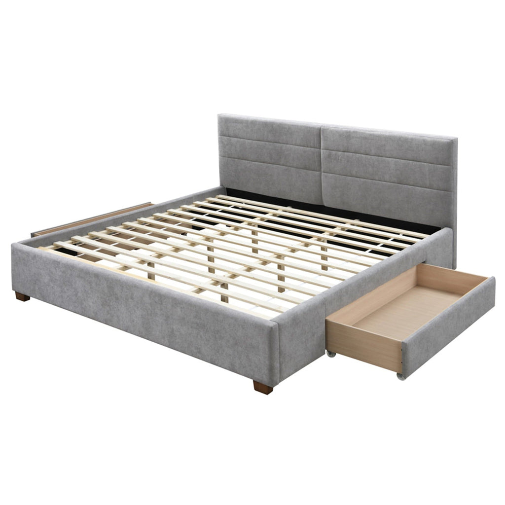 "Emilio 78"" King Platform Bed with Drawers - Modn City"