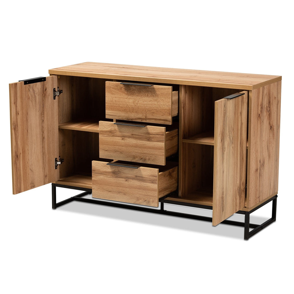 Reid Modern 3-Drawer Sideboard-Oak Finish - Modn City