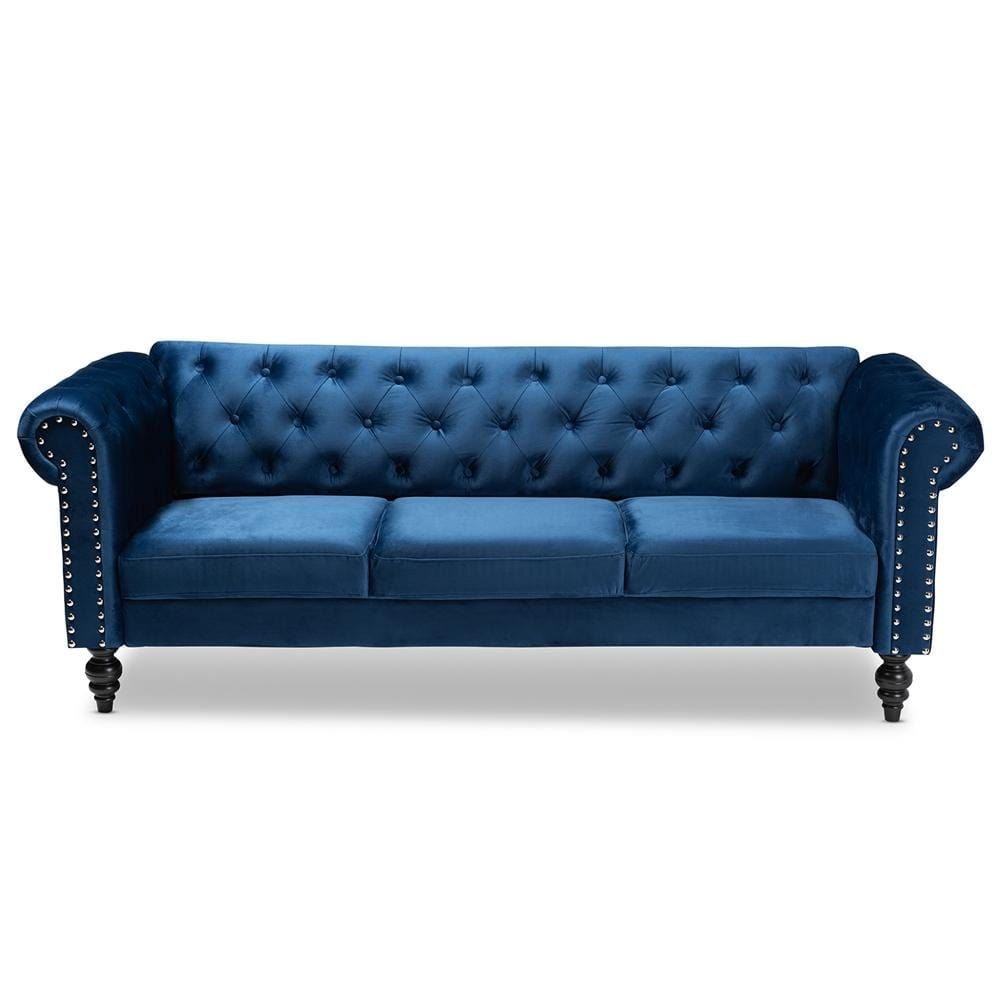 Emma Chesterfield Sofa-Navy Blue - Modn City