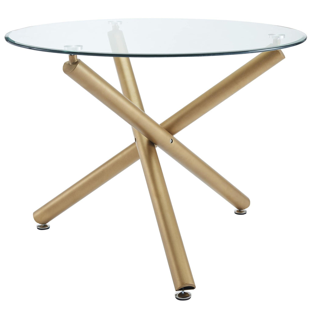 Carmilla Round Dining Table in Gold - Modn City