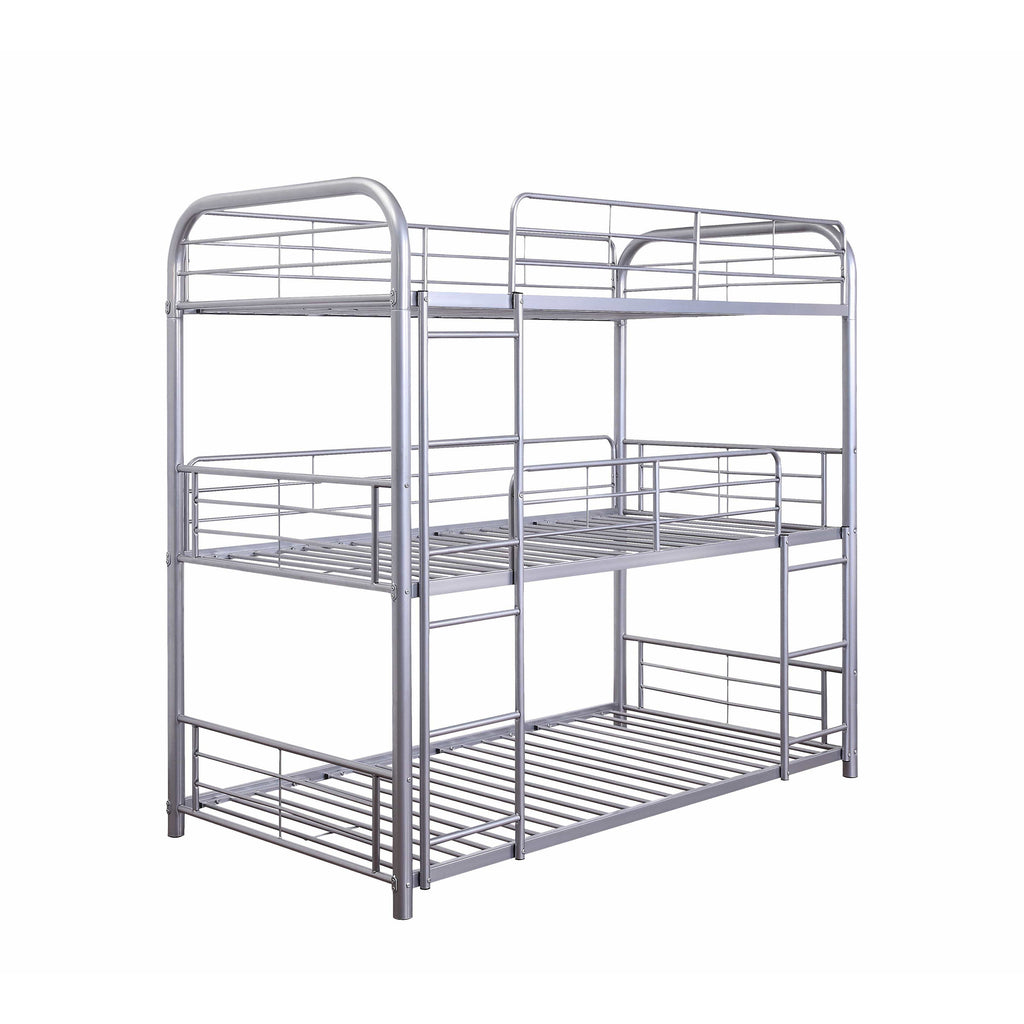 Silver Metal Triple Bunk Bed - Modn City