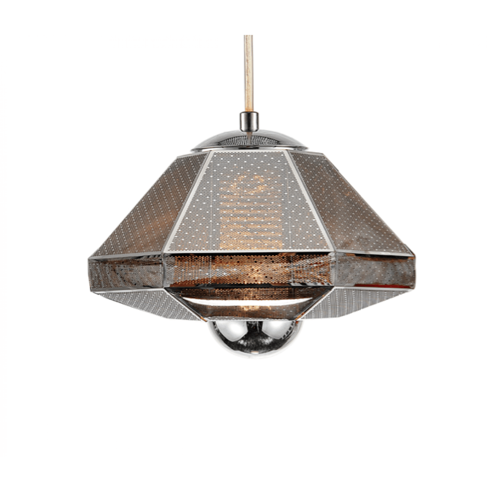Cell Short Pendant Lamp - Chrome - Reproduction - Modn City