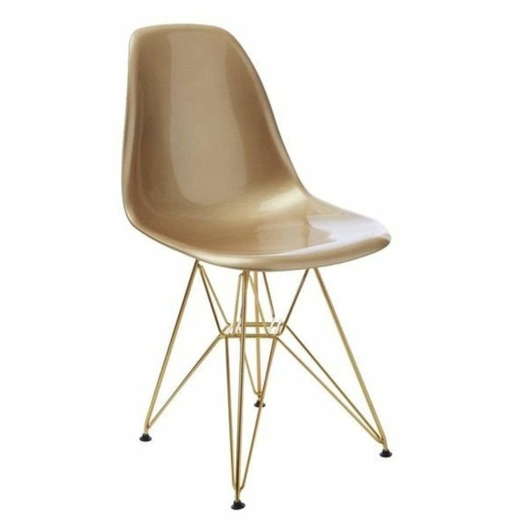 DSR Eiffel - Gold Seat with Gold Metal Legs - Reproduction - Modn City