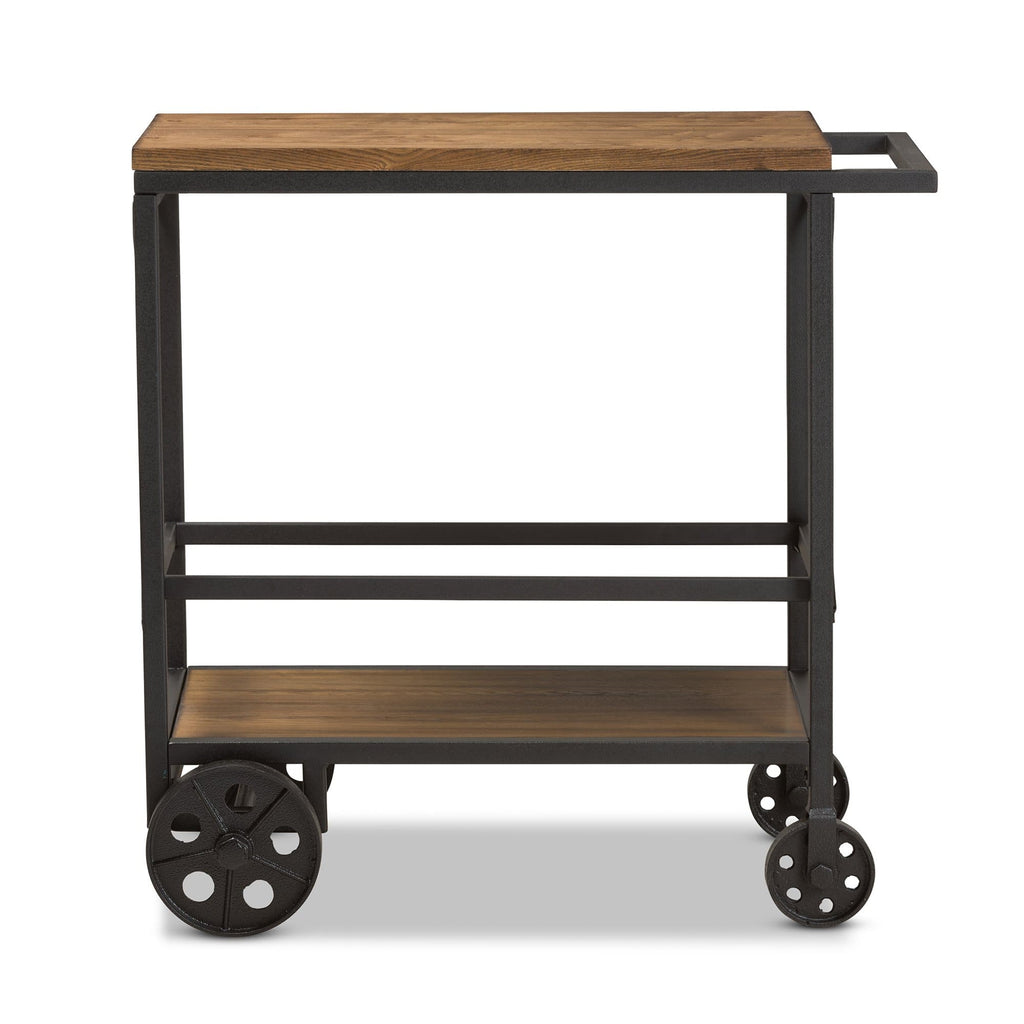 Chester Rustic Industrial Serving Cart - Modn City