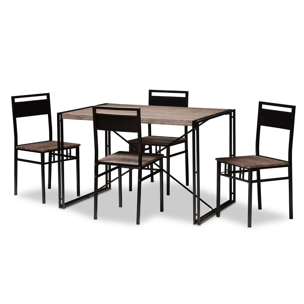 Mamaine Rustic 5-Piece Dining Set - Modn City