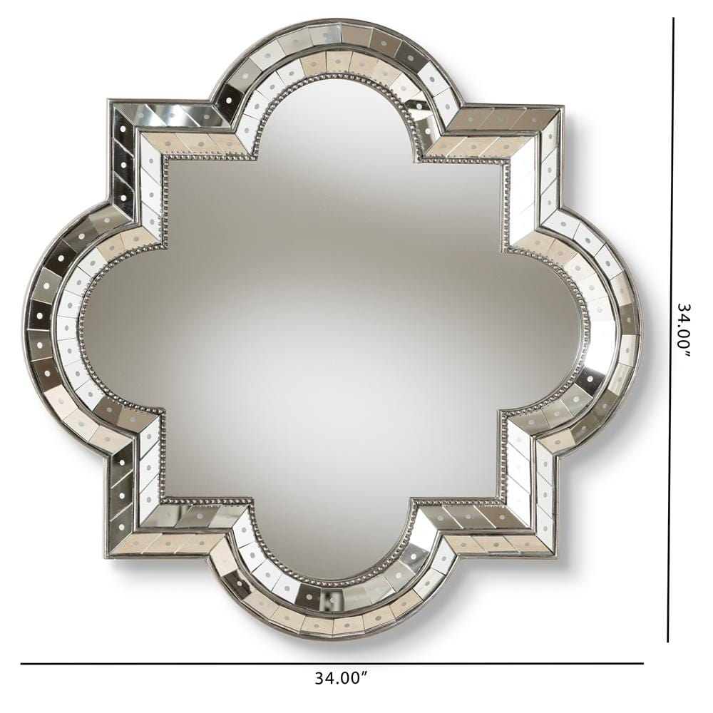Catia Art Deco Quatrefoil Accent Mirror - Modn City
