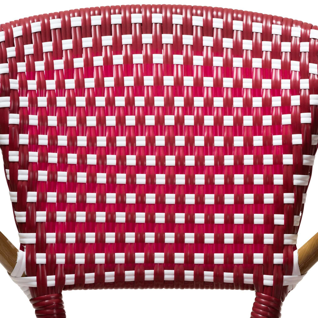 Eliane Classic French Dining Chair (Set of 2)-Red and White - Modn City