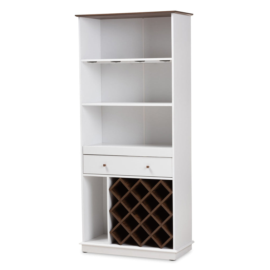 Serafino II Wine Cabinet-Dark Grey and Oak Finish - Modn City