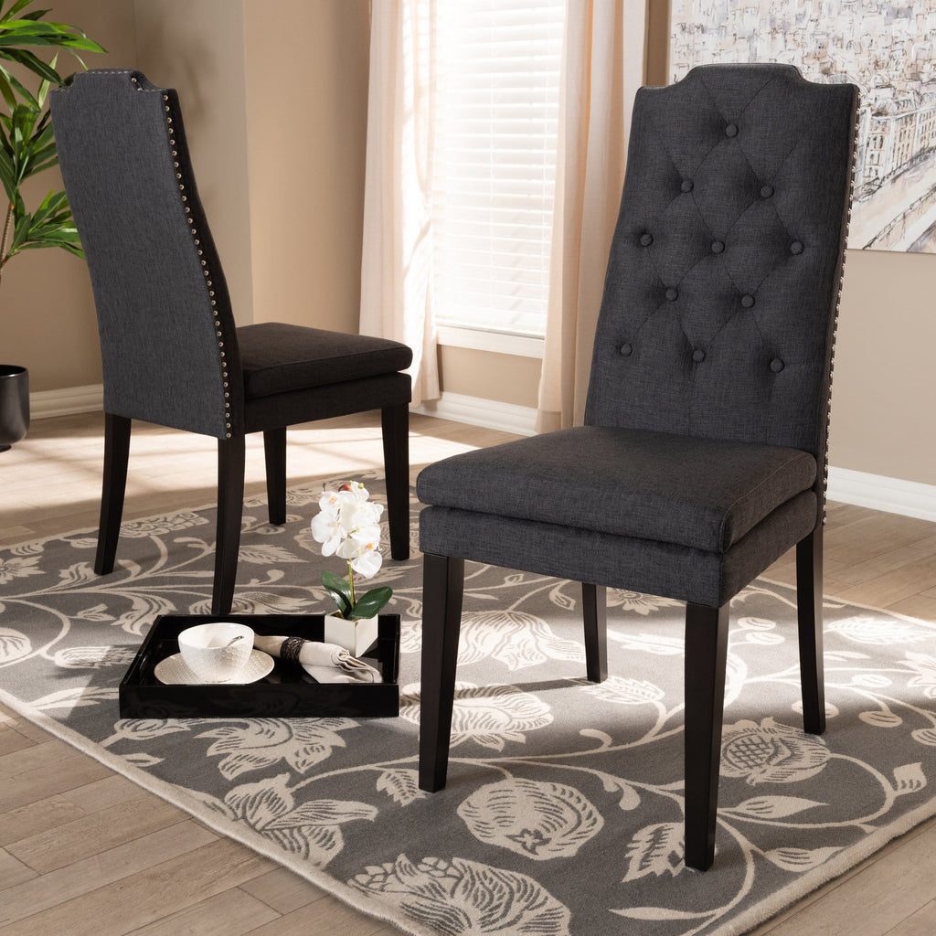 Dylin Dining Chair (Set of 2)-Charcoal Grey - Modn City