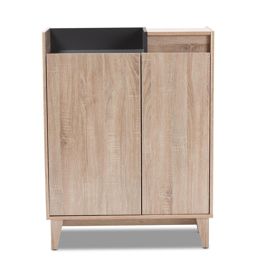 Fella Two-Tone Shoe Cabinet with Drawer - Modn City