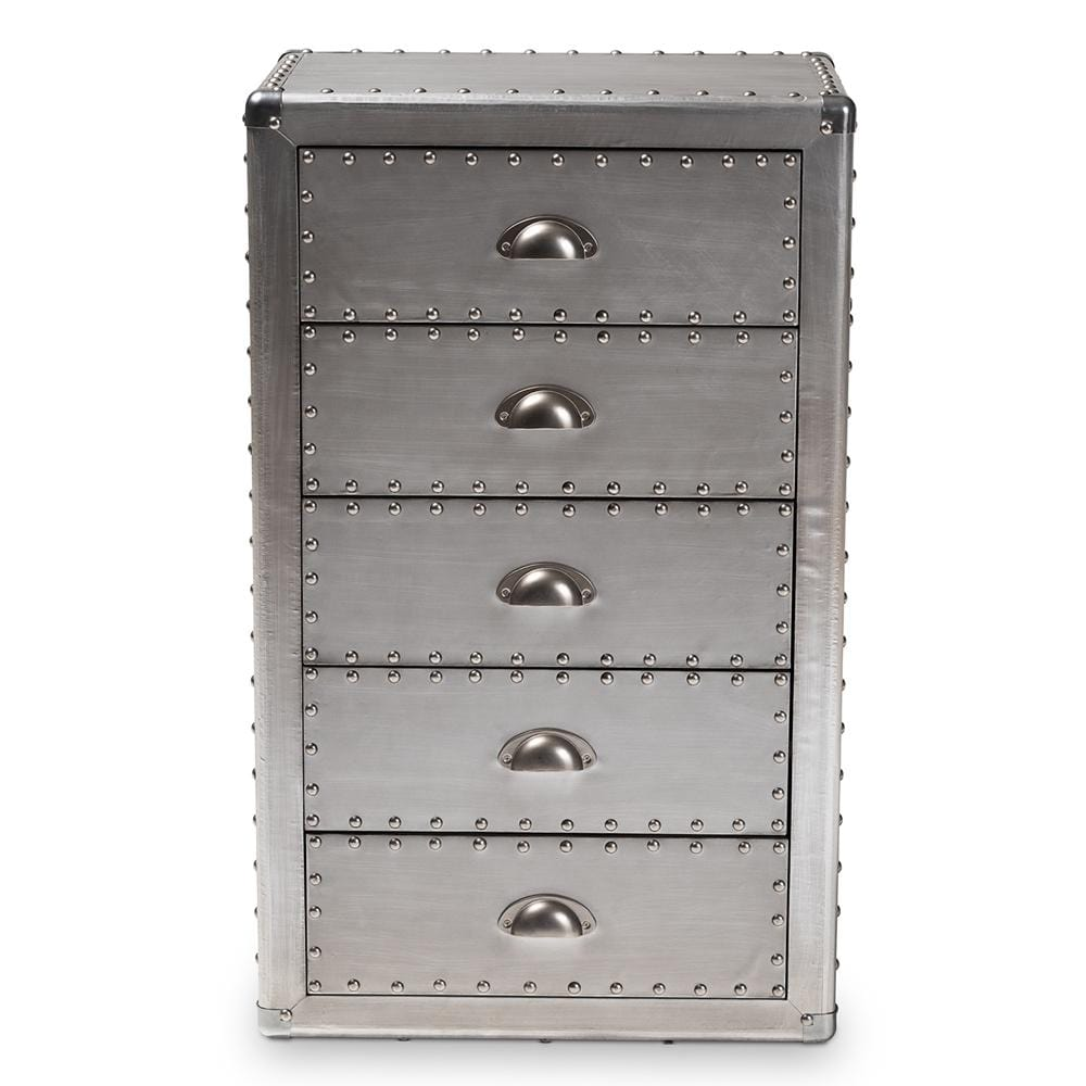 Davet Industrial Five-Drawer Accent Chest - Modn City