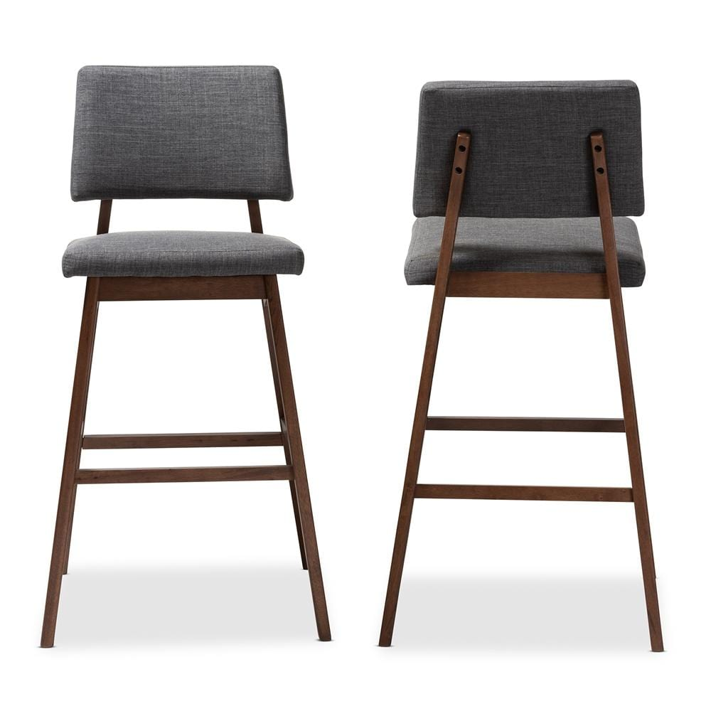Colton Bar Stool-Dark  Grey (Set of 2) - Modn City