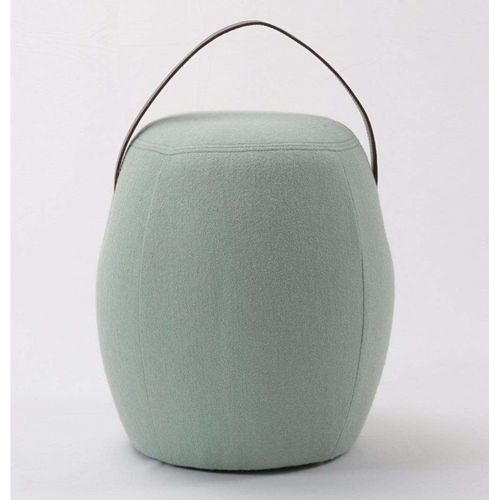 Kiley Handmade Pouf/Stool - Light Green - Modn City