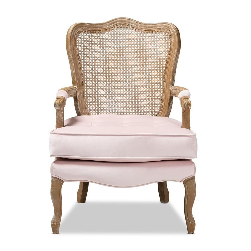 Vallea French Armchair-Light Pink - Modn City
