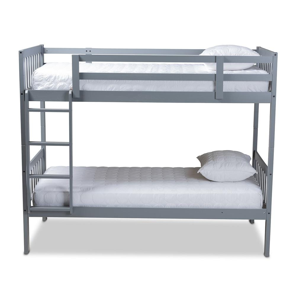 Jude Twin-Size Bunk Bed-Grey - Modn City