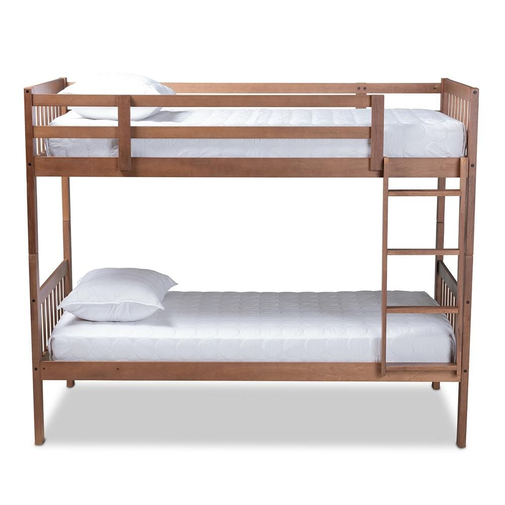 Jude Twin-Size Bunk Bed-Walnut Brown - Modn City