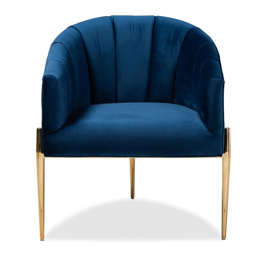 Clarisse Navy Velvet Accent Chair - Modn City