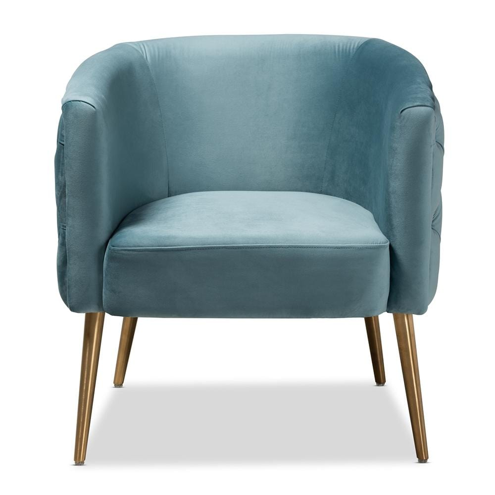 Marcelle Luxe Armchair-Light Blue - Modn City