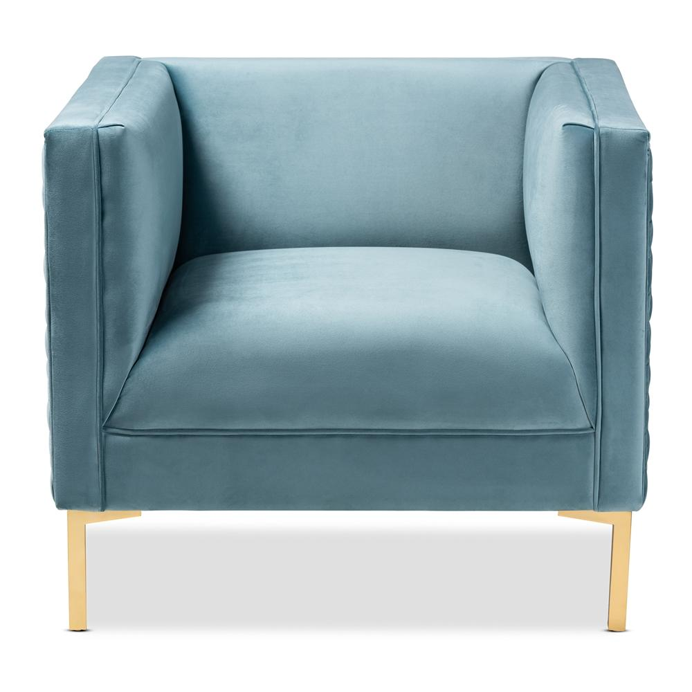 Seraphin Luxe Armchair-Light Blue - Modn City