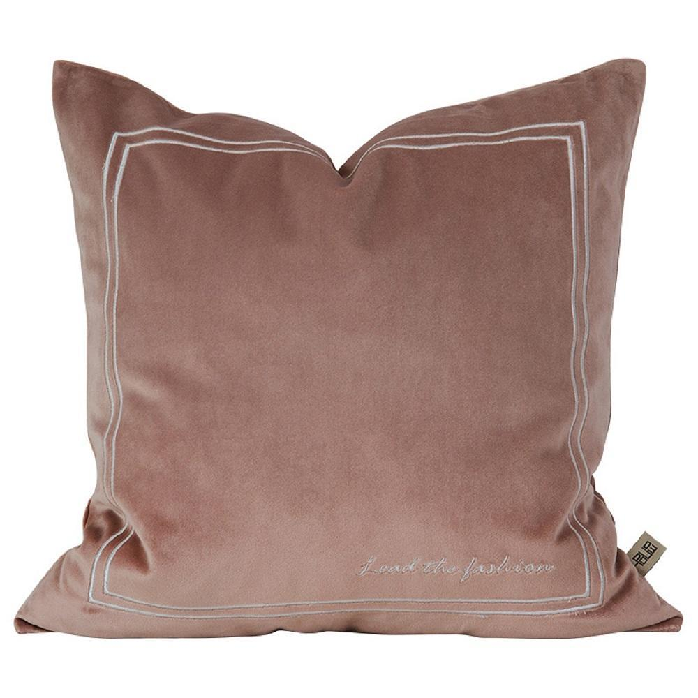 Blossom Pink Pure Velvet Embroidery Pillow Cover - Modn City