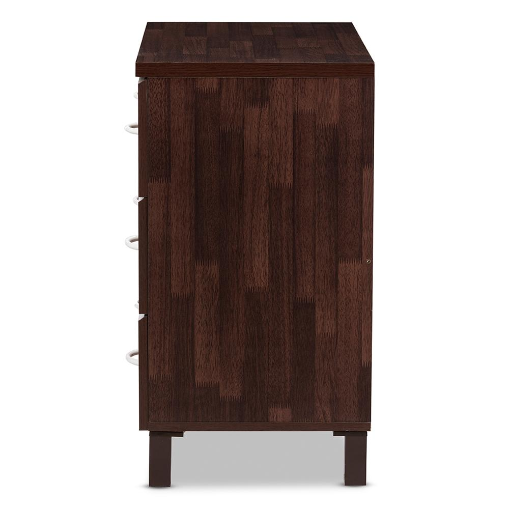 Maison Mid-Century Modern Three-Drawer Chest-Oak Brown - Modn City