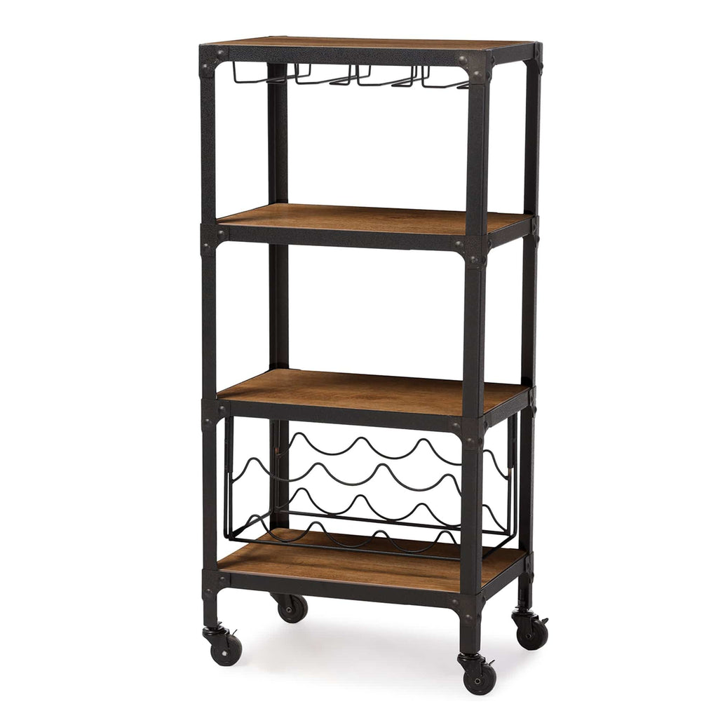 Swanson Industrial Style Wine Cart - Modn City