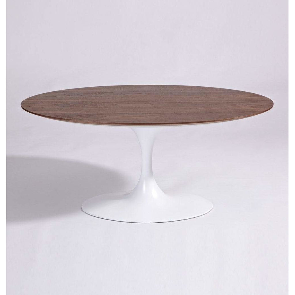 Tulip Coffee Table - Oval - Wood Top - Reproduction - Modn City