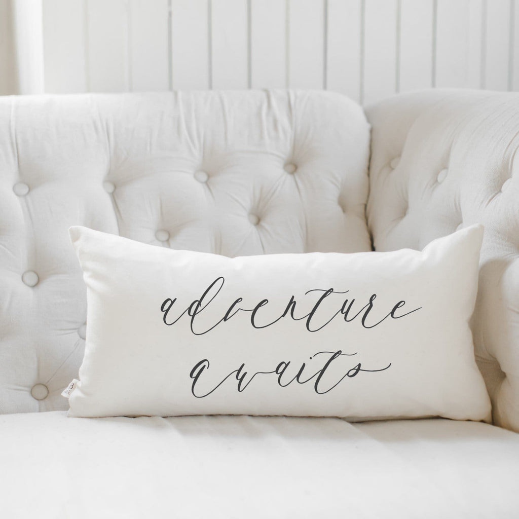 Adventure Awaits Lumbar Pillow - Modn City